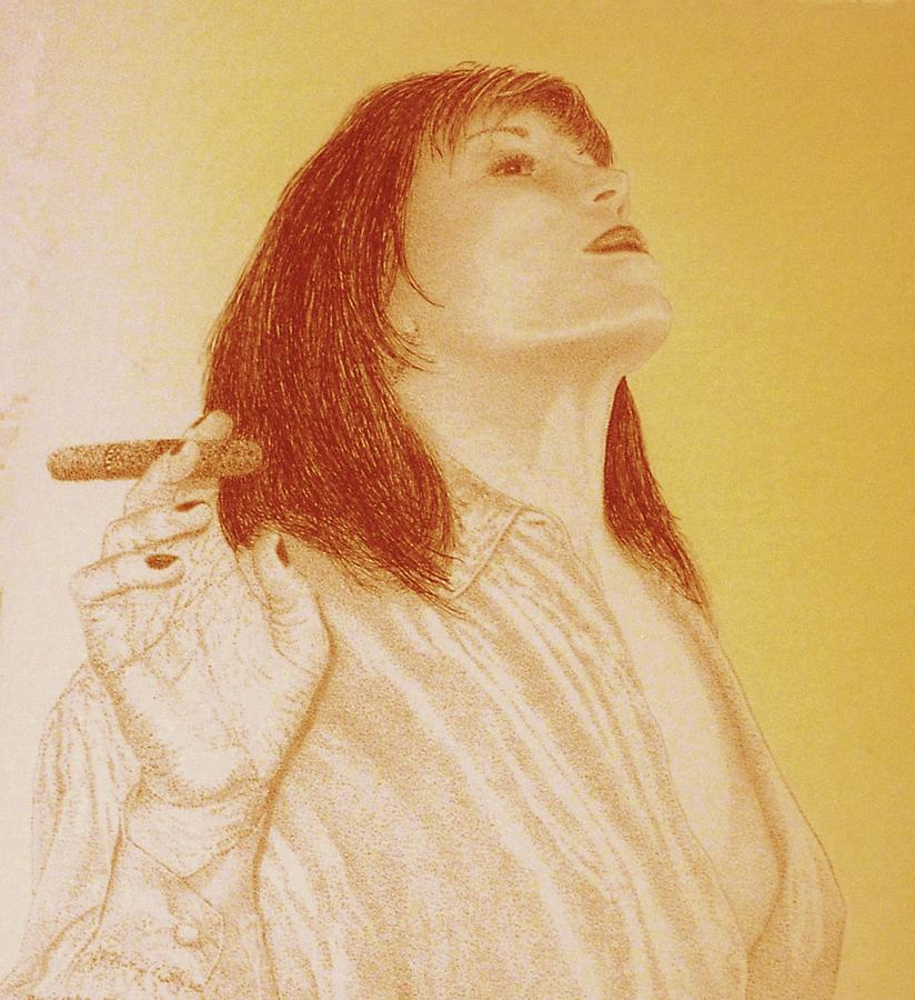 Smoke N Fire Drawing by Tony Ruggiero