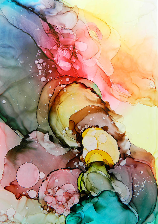 Smoke Of Many Colors Painting By Rowena Delfter