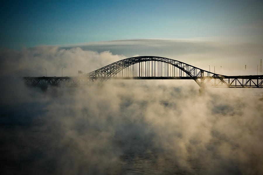 Clouds Photograph - Smoke On The Water by Michel Filion