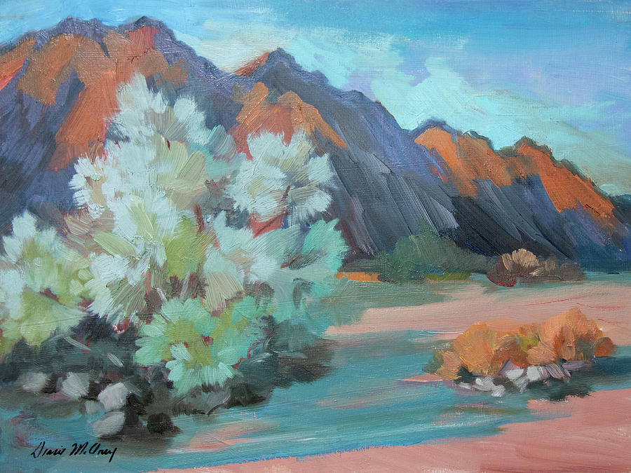 Box Canyon Painting - Smoke Tree At Box Canyon by Diane McClary