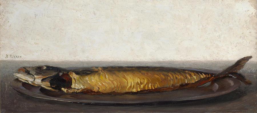 Smoked Fish Painting - Smoked Mackerel by Ben Rikken