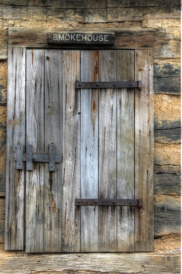 Smokehouse Photograph - Smokehouse Door Wood Antique Rust Bbq by Jane Linders & Smokehouse Door Wood Antique Rust Bbq Photograph by Jane Linders Pezcame.Com