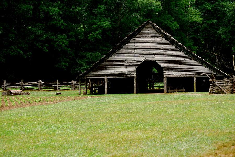 Smokey Photograph - Smokey Mountain Barn by Kimberly Camacho