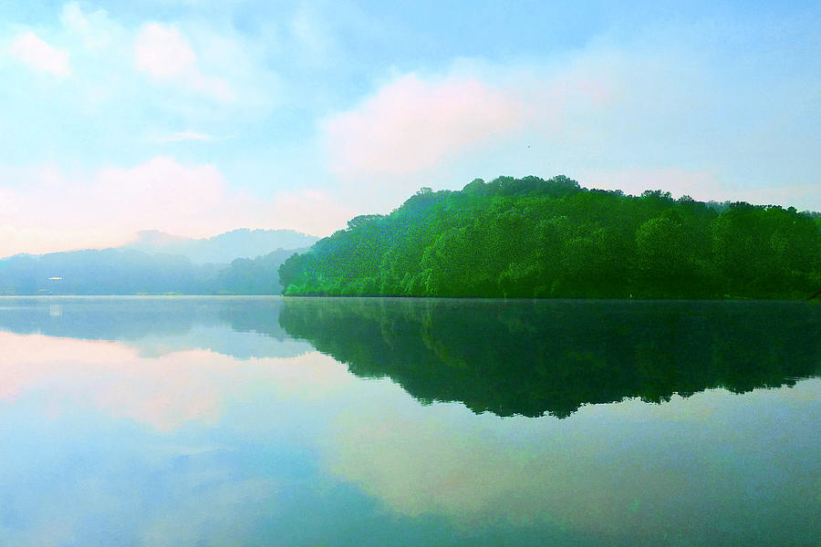 Smokey Mountains Photograph - Smokey Mountain Lake by Rod Whyte