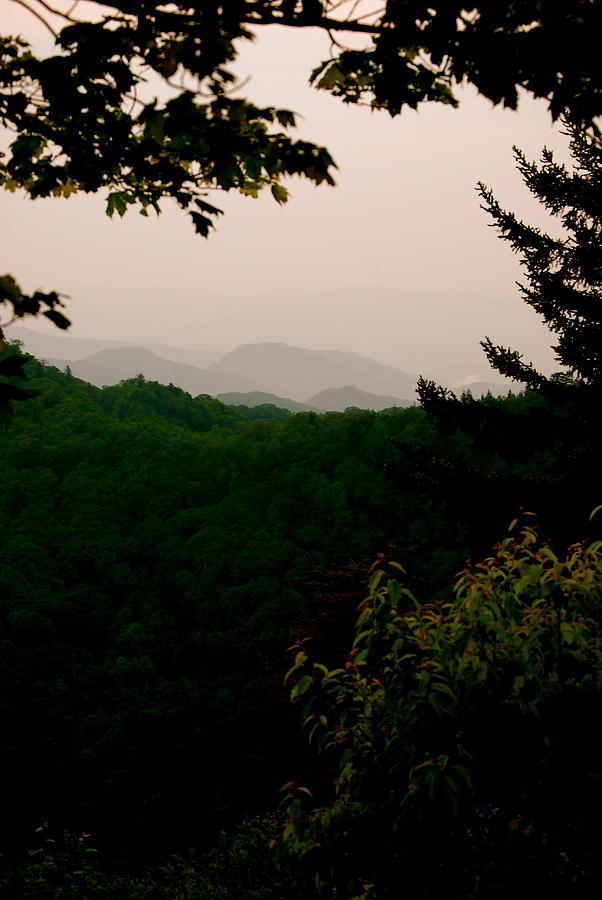 Smokey Photograph - Smokey Mountains At New Found Gap by Kimberly Camacho