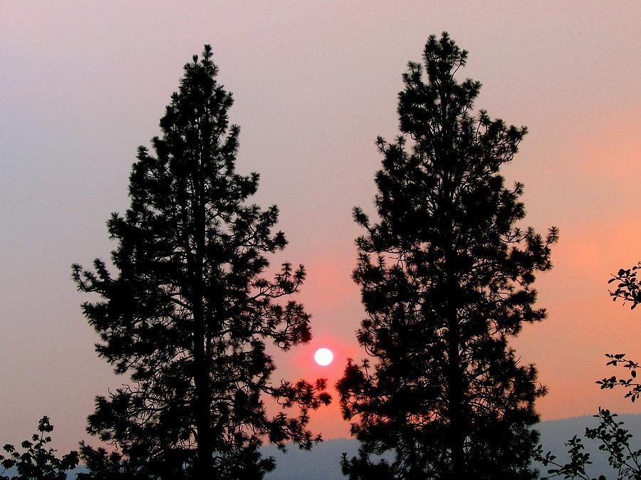 Smoke Photograph - Smokey Okanagan Sunset by Will Borden