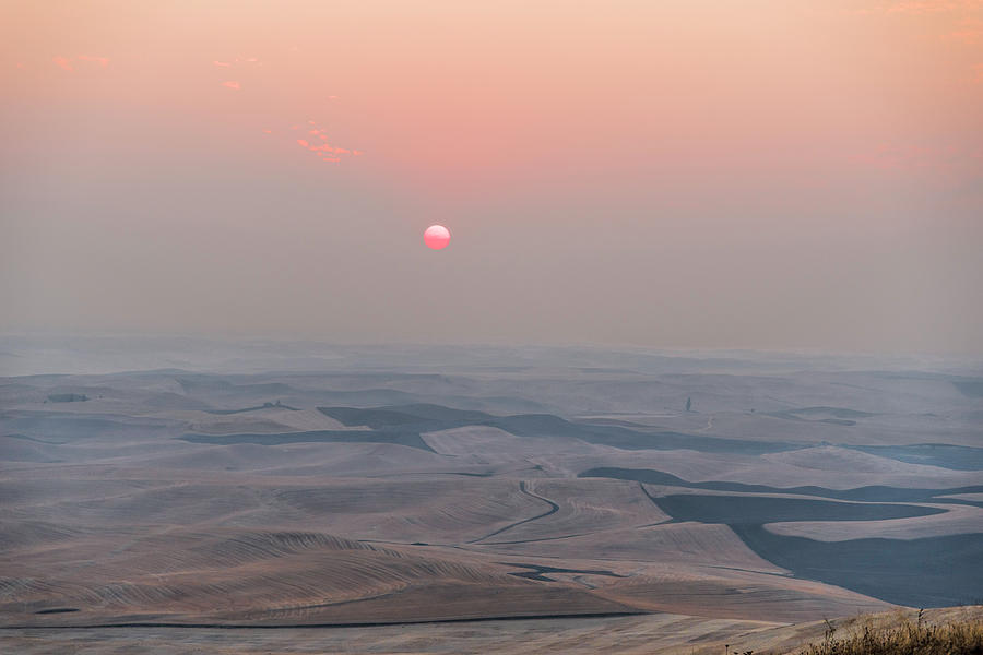 Wild Fire Photograph - Smokey Palouse Sunrise by Mike Herdering