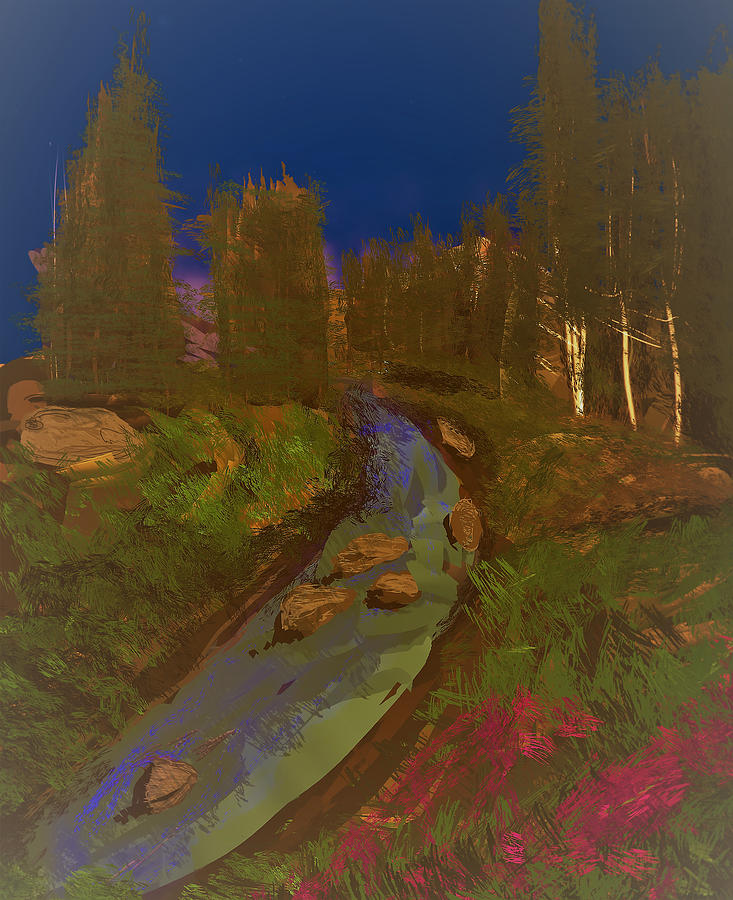 River Digital Art - Smokey River by Kab