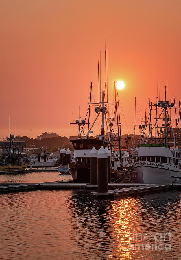 Smokey Sunset Crescent City Marina 2 by Al Andersen