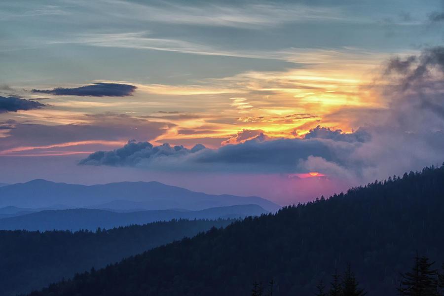Centennial Photograph - Smokies Centennial Sunset by Kristina Plaas