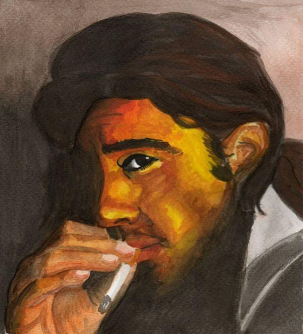 Antonio Banderas Painting - Smokin Banderas by Eniko Tanyi