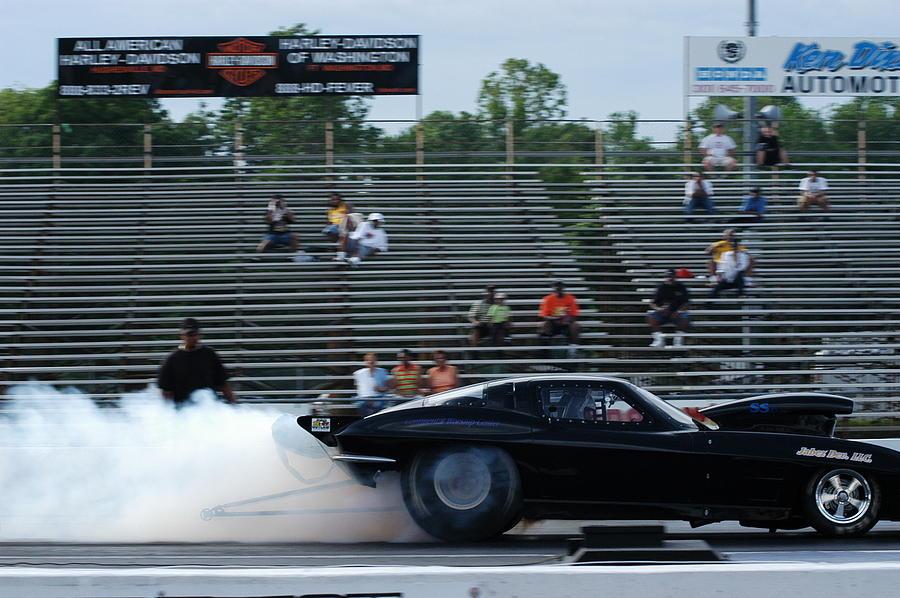Muscle Cars Photograph - Smokin by Cheryl D