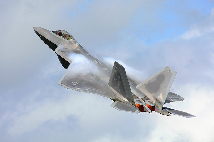 Aircraft Digital Art - Smokin - F22 Raptor On The Go by Pat Speirs