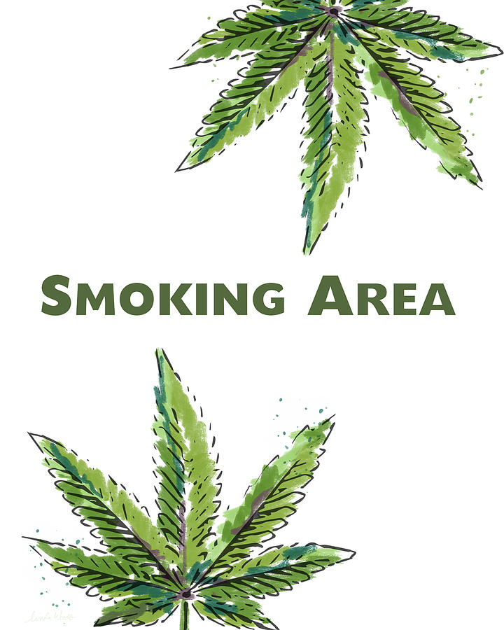 Marijuana Mixed Media - Smoking Area - Art By Linda Woods by Linda Woods