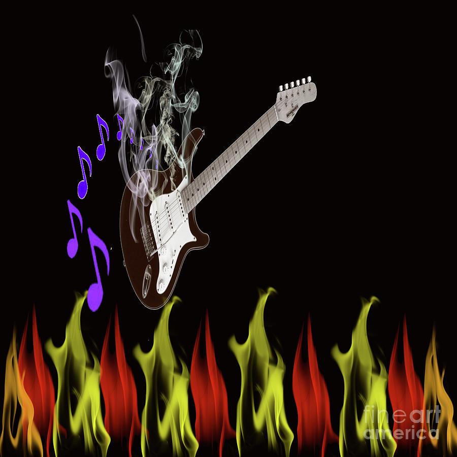 Smoking Photograph - Smoking Guitar by Scott Hervieux