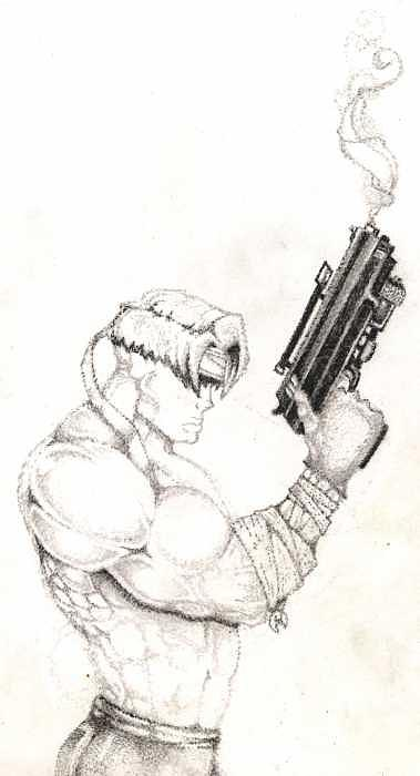 Comic Drawing - Smoking Gun-concpet- Pointilism by Kyle Adamache