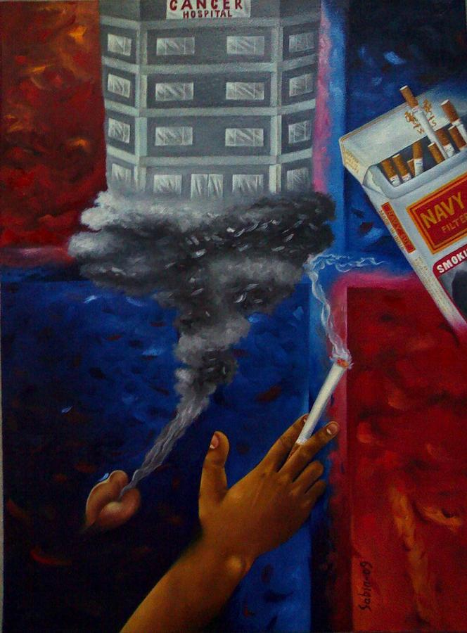 Smoking Is Injurious To Health Painting by Sabir Newar