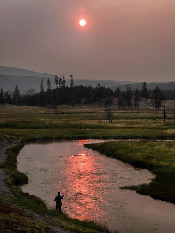 Yellowstone Photograph - Smoky Cast by Rob Wilson