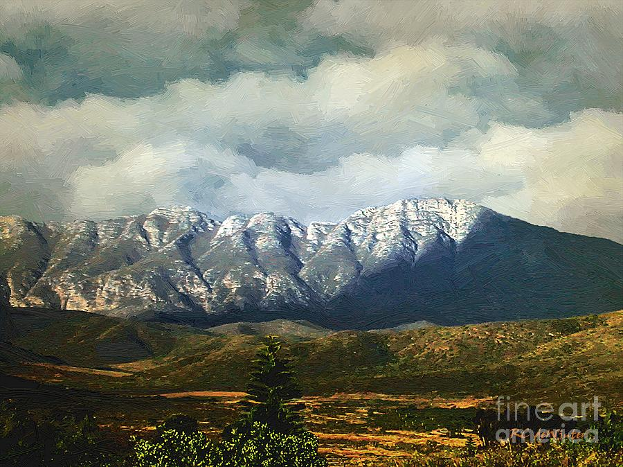 Landscape Painting - Smoky Clouds On A Thursday by RC deWinter