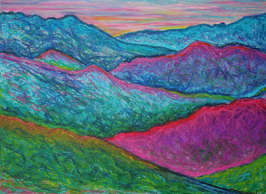 Smoky Mountain Abstract Painting By Nancy Mueller