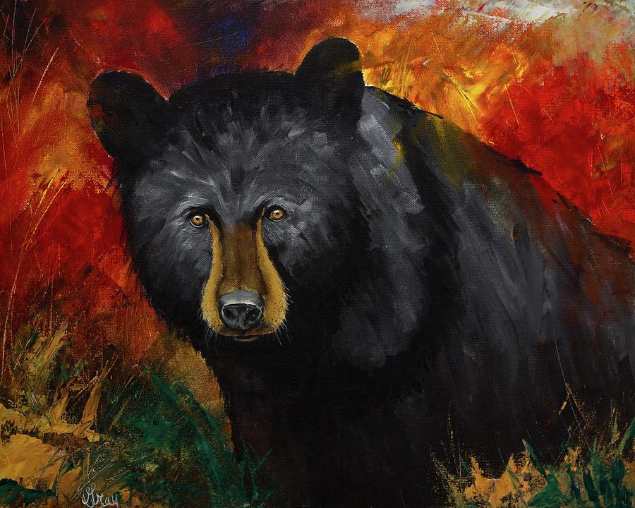 Smoky Mountain Black Bear Painting
