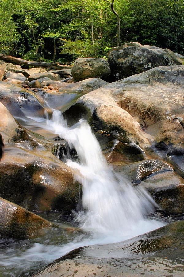 Waterfall Photograph - Smoky Mountain Flow by Kristin Elmquist