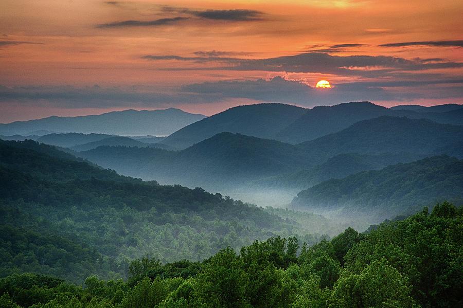 Smoky Mountain Good Morning Photograph By Karen Lawson