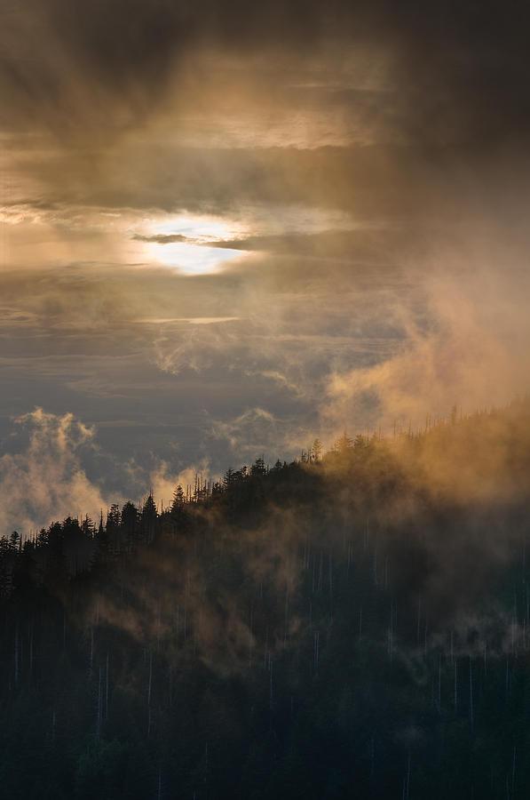 Carolina Photograph - Smoky Mountain by Steve Gadomski