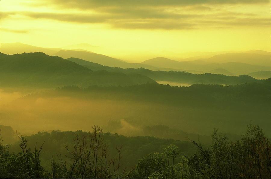 National Park Photograph - Smoky Mountain Sunrise by John Burk