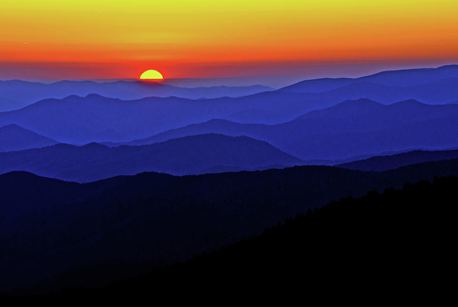 Smoky Mountain Sunset by Rebecca Higgins