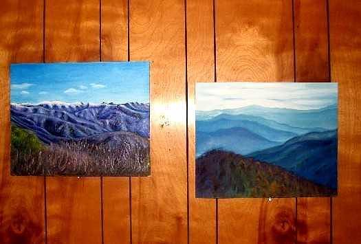 Lanscape Painting - Smoky Mountains landscape original oil painting by Natalja Picugina