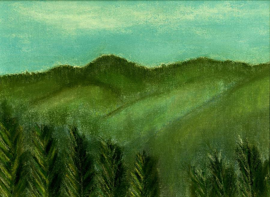 Trees Painting - Smoky Mountains by Melvin Moon