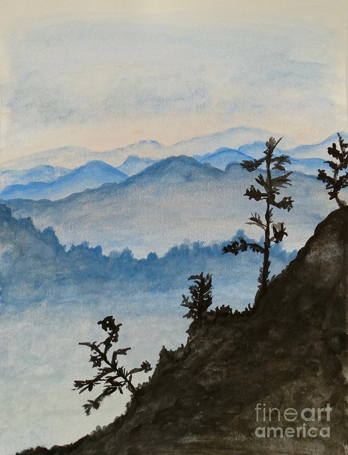 Smoky Mountains - Watercolor Painting