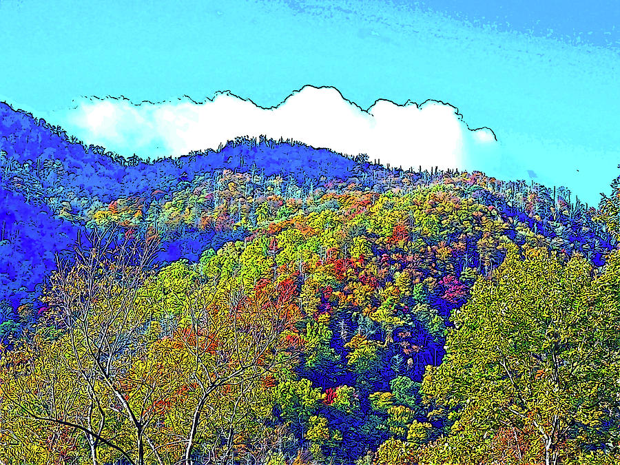 Smoky Mountains Photograph - Smoky Mountains Scenery 6 With Sunny Day Filter by Marian Bell