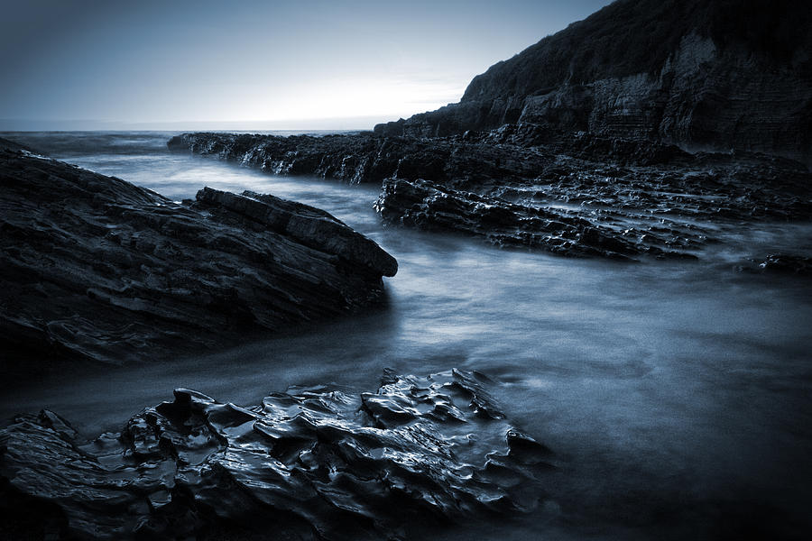 Seascape Photograph - Smooth And Jagged by Matt  Trimble