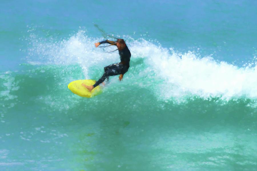 Smooth Dreadlocks Surfer Watercolor Digital Art