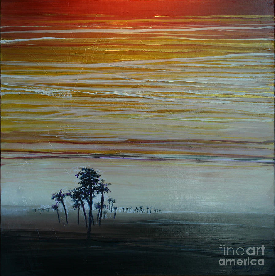 Palms Painting - Smooth Jazz by Michele Hollister - for Nancy Asbell