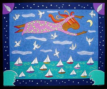 Smooth Sailing Painting by Nancy  Coffelt