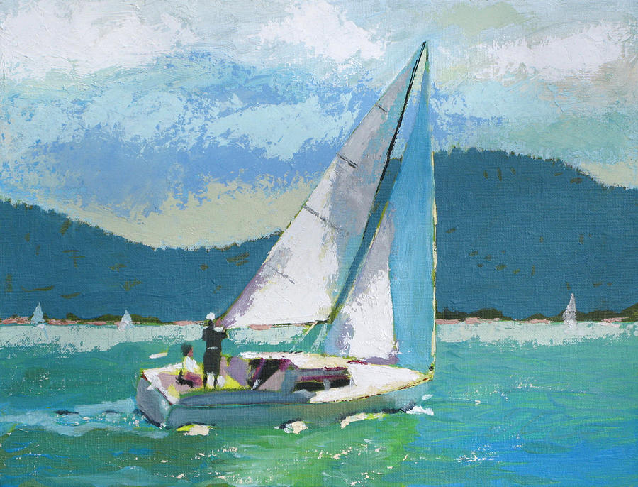 Boat Painting - Smooth Sailing by Robert Bissett
