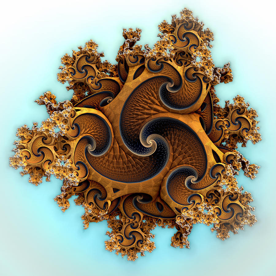 Smooth Spirals Digital Art by Hal Tenny
