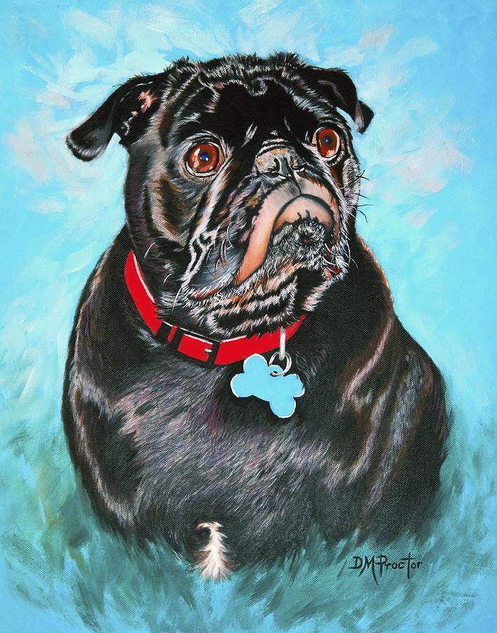 Smug Black Pug by Donna Proctor