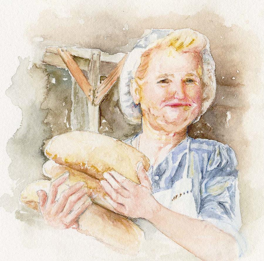 Baking Painting - Smug by Maria Tepper