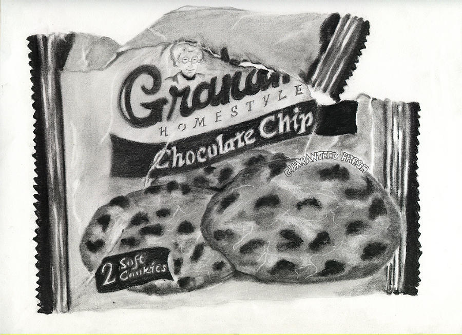 Cookies Drawing - Snack Time by Penny Everhart