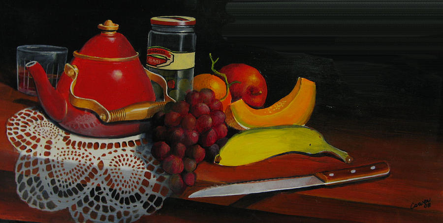Oil Painting - Snack Time by Robert Carver