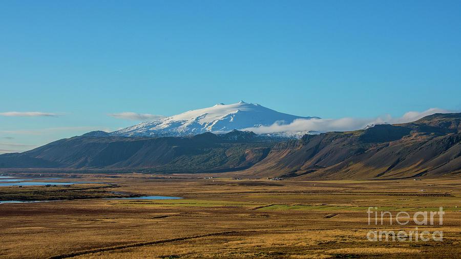 Snaefellsjokull Volcano Iceland Photograph