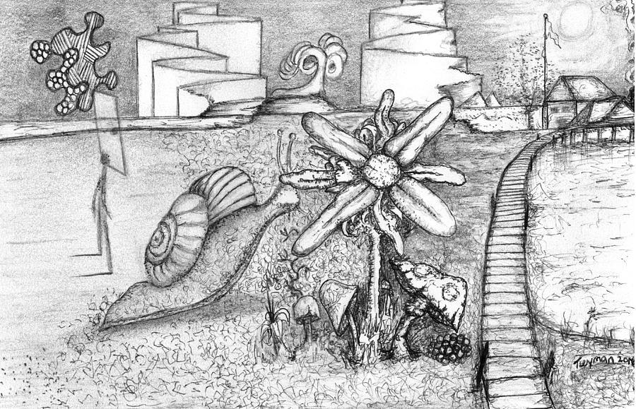 Snail Flower Drawing