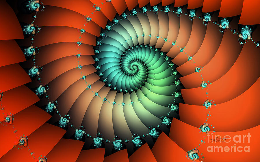 Fractal Digital Art - Snails On The Way by Jutta Maria Pusl