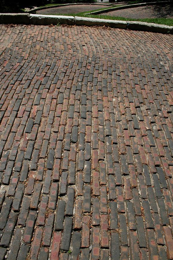 Snake Alley Photograph - Snake Alley Bricks by Dylan Punke
