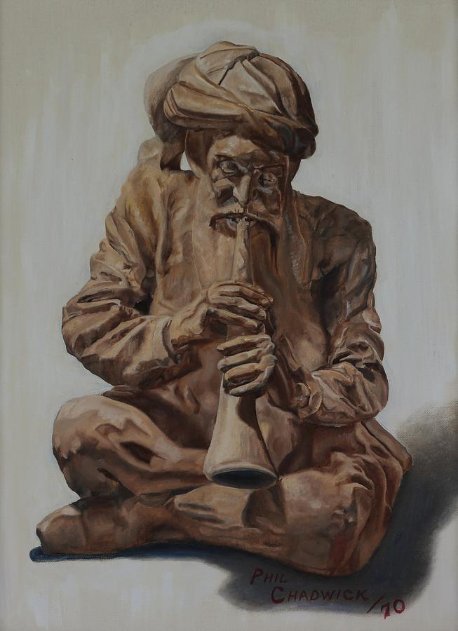 8 Painting - Snake Charmer by Phil Chadwick