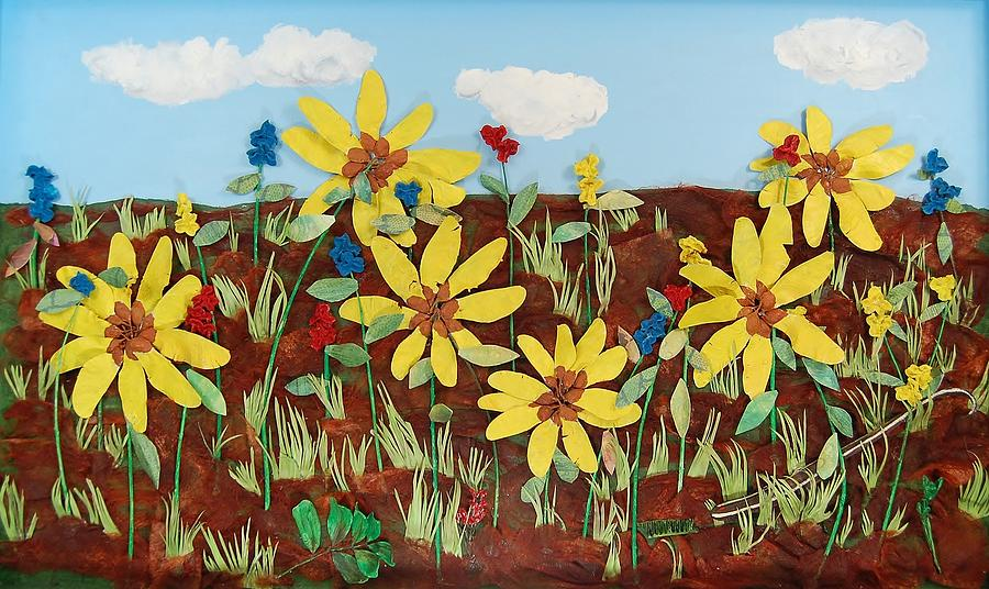 Flowers Mixed Media - Snake In The Grass by Charla Van Vlack
